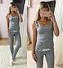 """Женский стильный костюм без рукава """"Calvin Klein"""": футболка, штаны (4 цвета)"""