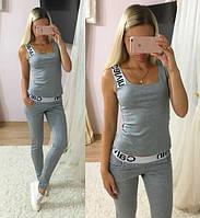 """Женский стильный костюм без рукава """"Calvin Klein"""": футболка, штаны (4 цвета) , фото 1"""