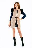 Женская стильная жилетка с мехом на рукавах (3 цвета), фото 1