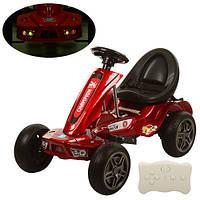 Детский электромобиль карт BAMBI Картинг с двумя моторами колесами Eva Foam и на радиоуправлении