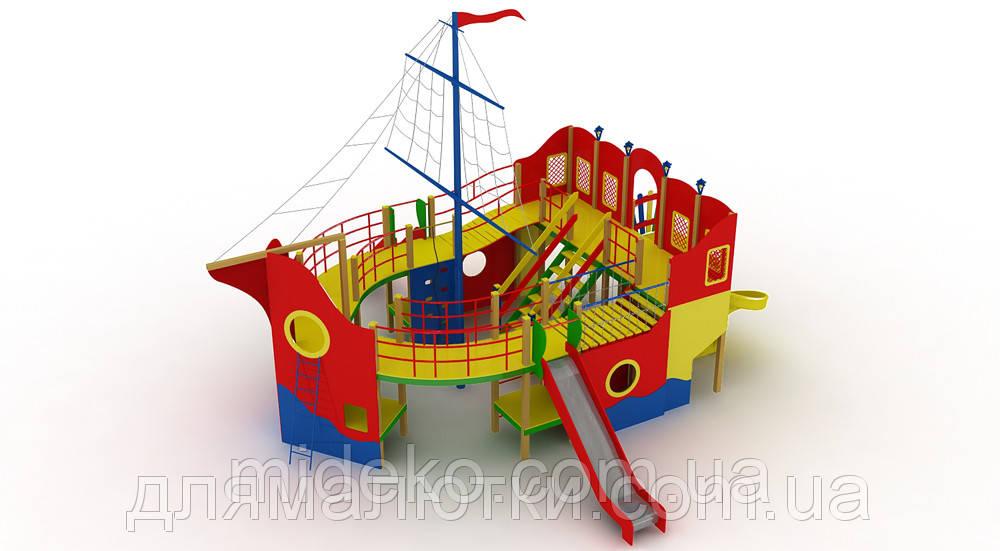 """Детский комплекс """"Пираты"""" (высота горки 1,5 м) MIDEKO"""