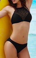 Женский красивый черный раздельный купальник
