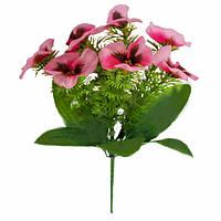 Букет искусственных цветов Виола бордюр , 23 см