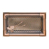 Вентиляционная каминная решетка Retro, медная патина
