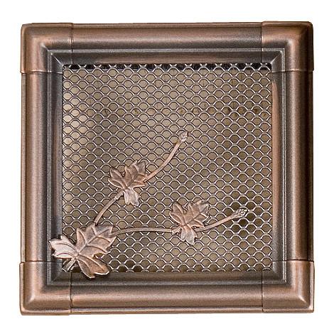 Вентиляционная каминная решетка Retro, медная патина 16х16 - Ваш Комин в Ужгороде