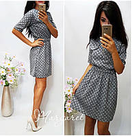 Женское стильное платье с узором