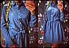 """Женское стильное джинсовое плтье-рубашка """"Звезды"""""""