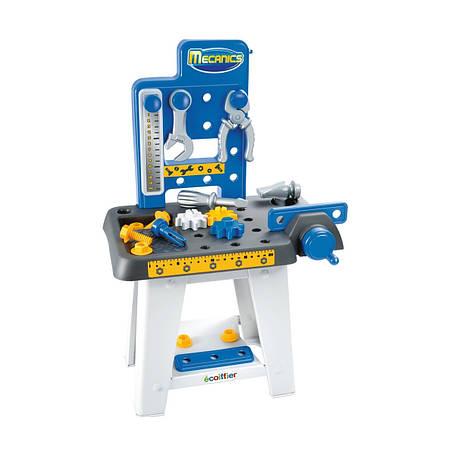 Игровой набор «Ecoiffier» (002404) мини-мастерская с верстаком, тисками и молотком, 25 предметов, фото 2