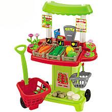 Игровой набор «Ecoiffier» (001744) овощной киоск Chef-Cook с тележкой и корзинкой, 40 предметов