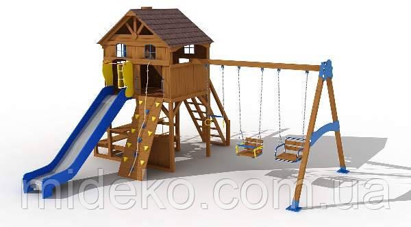 """Детский комплекс """"Дача"""" (высота горки 1,8 м)"""