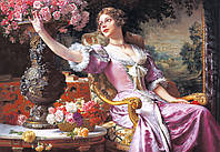 "Пазлы 3000 эл.. Castorland ""Lady in Purple Dress"", W.Czachorski"" (14)"