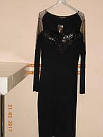 Выходное французское платье с цветами из ткани