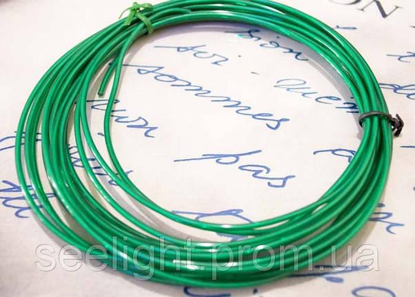 Электролюминесцентный провод (холодный неон) III поколение, диаметр- 2.6мм., цвет- зеленый, фото 2