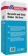 Клей эластичный универальный Krautol Keramik und Stein Kleber 86 Grau, 25кг