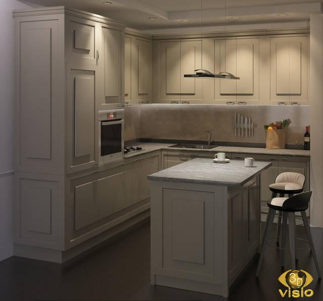 Визуализация кухни в Литве 17