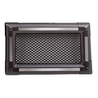 Вентиляционная каминная решетка Exclusive, графит/inox