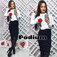 Красивая блузка с вышивкой, расцветки КР-02.022