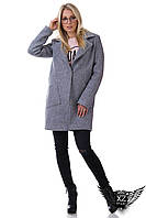 Пальто-бойфренд с накладными карманами, фото 1