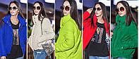 Женская модная куртка с высоких воротом весна/осень (цветов), фото 1