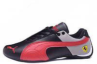 Мужские кроссовки Puma Ferrari Low black-red