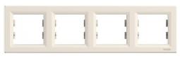 Schneider Electric Asfora Рамка 4-постовая горизонтальная кремовая