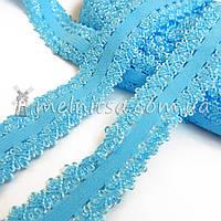Резинка ажурная, 2 см, голубой