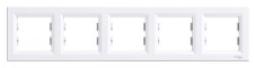 Schneider Electric Asfora Рамка 5-постовая горизонтальная белая