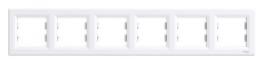 Schneider Electric Asfora Рамка 6-постовая горизонтальная белая