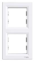 Schneider Electric Asfora Рамка 2-постовая ветикальная белая