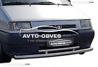 Двойная защита переднего бампера Citroen Jumpy 1998-2007