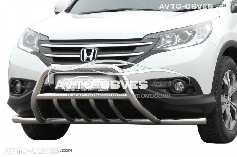 Штатный кенгурин для Хонда ЦРВ 2013-2016, полная защита бампера
