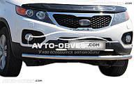 Защита переднего бампера для Kia Sorento 2010-2012 одинарная от ИМ Автообвес (п.к. V001)