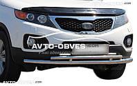 Двойная защита переднего бампера Kia Sorento 2010-2012