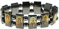 Гематитовый браслет с иконами