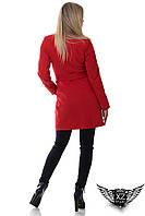 Пальто кашемировое от производителя красное, бордовое, черное, бежевое на кнопках с пояском А1 на кнопках