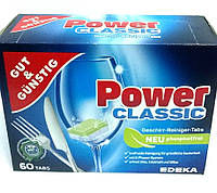 Таблетки для посудомоечных машин G&G POWER Classic 60 шт., фото 1