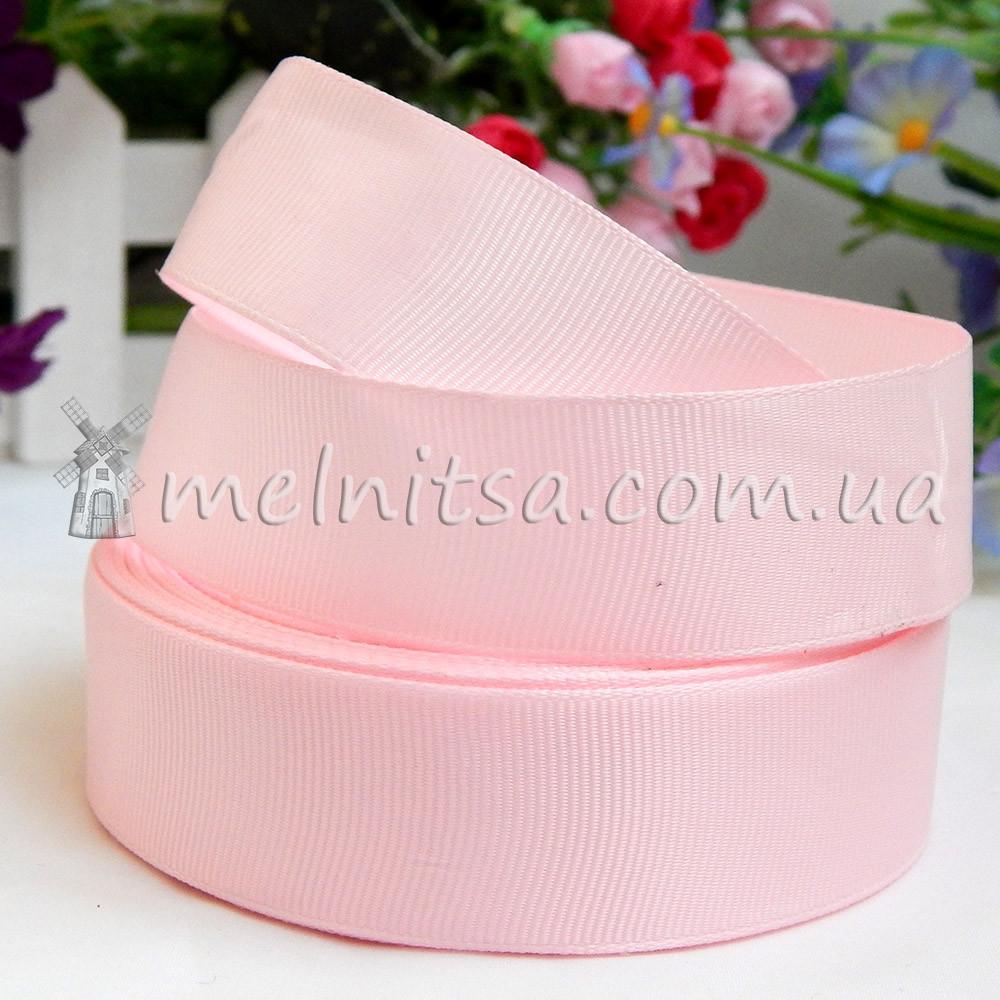 Лента репсовая св.розовая, 2,5 см