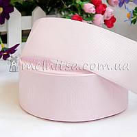 Лента репсовая бледно-розовая, 4 см
