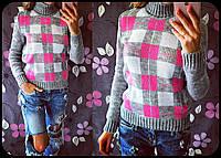 Женский стильный  свитер с узором (4 цвета)