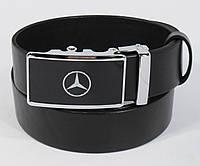 Кожаный ремень автомат мужской Mercedes-Benz 8305-503, авто коллекция