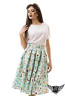 Блузка и юбка в комплекте, белая блузка, от производителя, юбка в цветок А1