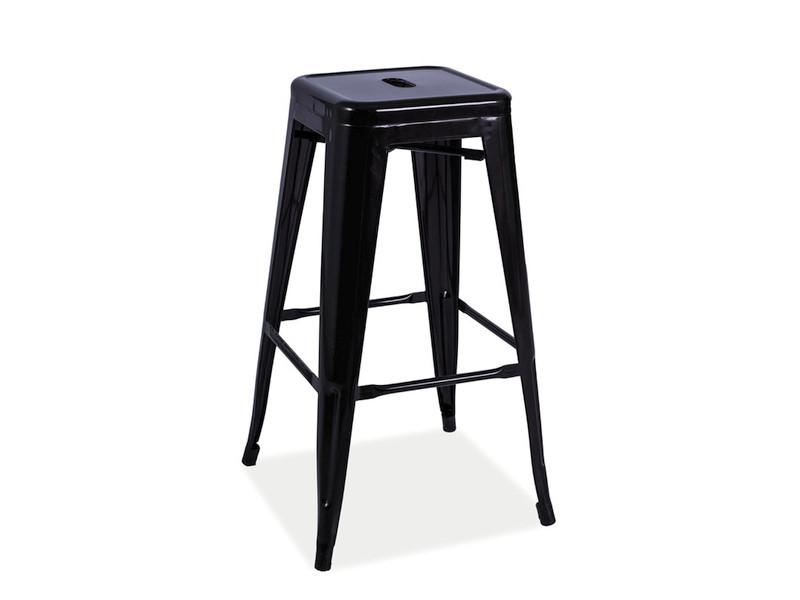 Барный стул Long Signal черный матовый