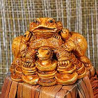 "Фигурка ""Трехлапая денежная жаба Чань Чу на черепахе"""