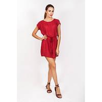 Короткое платье - туника в красном цвете, Индия
