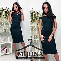 Женское красивое платье-миди (4 цвета), фото 1