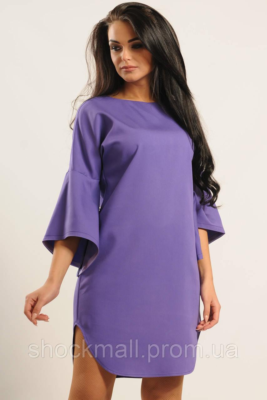 642e918ed48 Фиолетовое платье с рукавами воланами