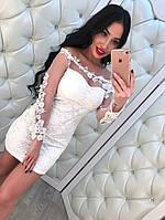 Женское модное коктейльное платье (2 цвета)
