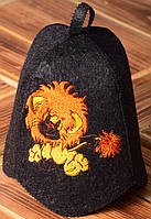 Детская шапка для бани и сауны   «Львенок»