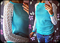 Женский стильный свитер с перфорацией (2  цвета)