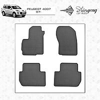 Коврики резиновые в салон Peugeot 4007 c 2007- (4шт) Stingray